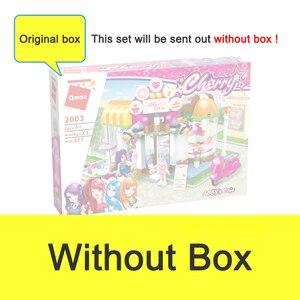 Image 5 - Qman 2003 Abbys Cafe seti arkadaşlar serisi Mini figürleri eğitici oyuncak inşaat blokları kızlar için DIY yaratıcı hediyeler 277 adet