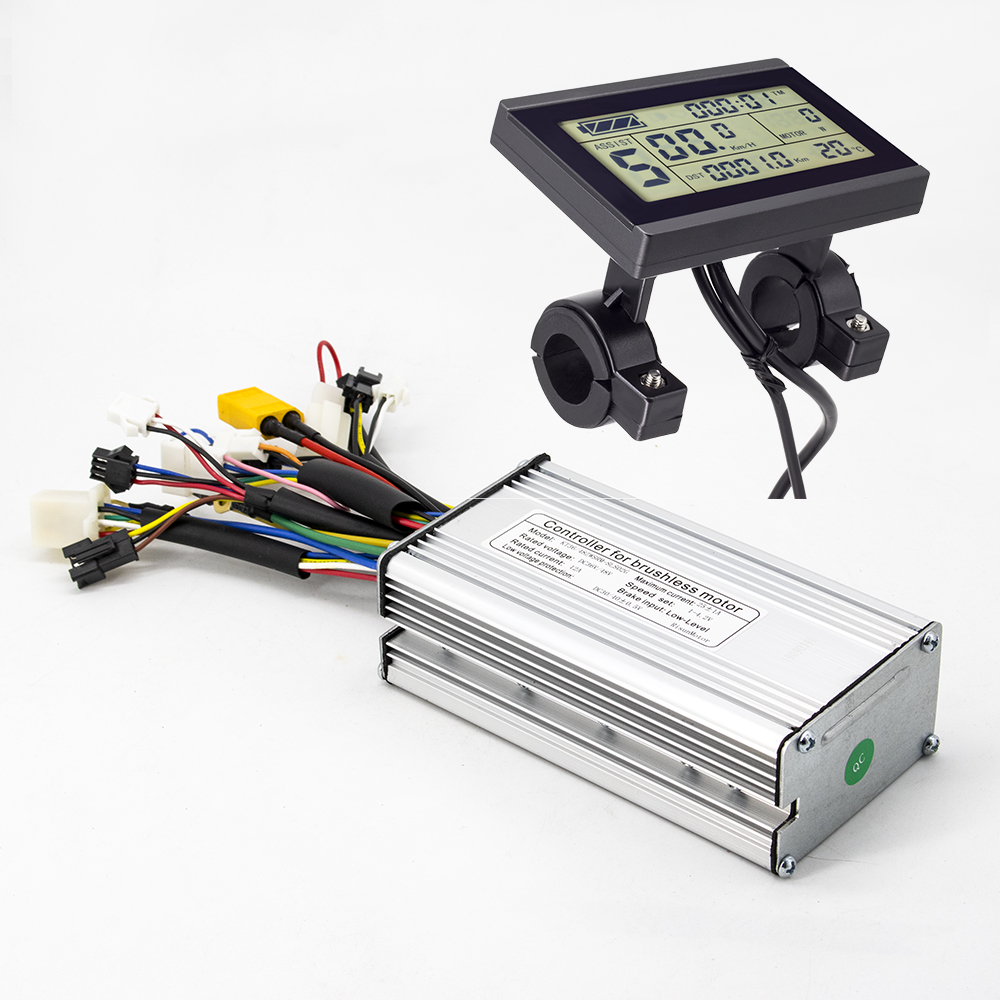Ebike Controller 36V 48V 500W 25A Brushless 9 Mosfet Square Wave Controller With KT LCD4 LCD5 LCD8H Display Electric Bike Parts