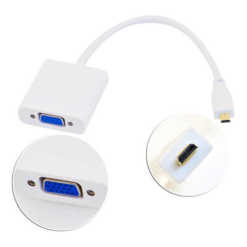 מיקרו HDMI ל-vga מתאם כבל זכר לנקבה עם 3.5mm אודיו USB כוח כבל עבור Xbox PS4/ 3 מצלמה נייד פטל Pi 4