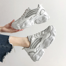 casual women's sneakers Platform Increased chunky shoes Breathable Mesh Shoes woman Vulcanize shoes habuckn 2020 new white leisure sneakers women shoes chunky sneakers platform vulcanize shoes woman breathable mesh sequins