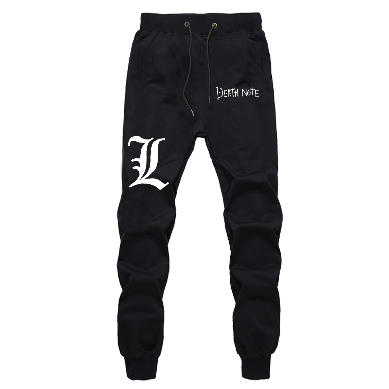 The Death Note Printing Long Trousers Men's Casual Loose Full Length Pants Autumn Hip Hop Streetwear Sweatpants For Boys
