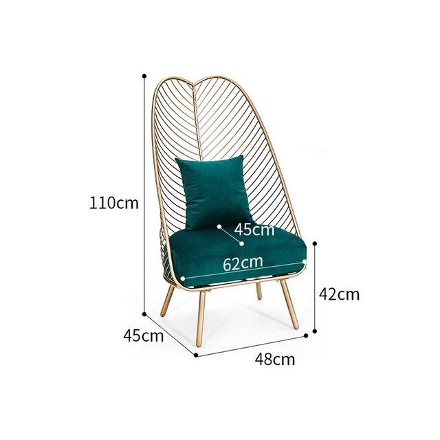 Louis Fashion Living Room Chairs Single Sofa Nordic Creative Leisure Fabric Balcony Bedroom Home Decor & Toys