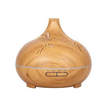 500ml dyfuzor olejków eterycznych dyfuzor do aromaterapii z drewna nawilżacz generujący chłodną mgiełkę z regulowanym zegarem Mist Waterless Auto Off tanie i dobre opinie OUBBGLVS CN (pochodzenie) Approx 390G 6 Hours Approx 168x168x148 mm