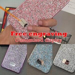 Image 2 - Knipperende Strass Telefoon Case Voor iphone 11 Pro Max 2 in 1 Diamond Glitter Vrouwen Terug Case Voor iphone Xs max Gevallen, CKHB DD