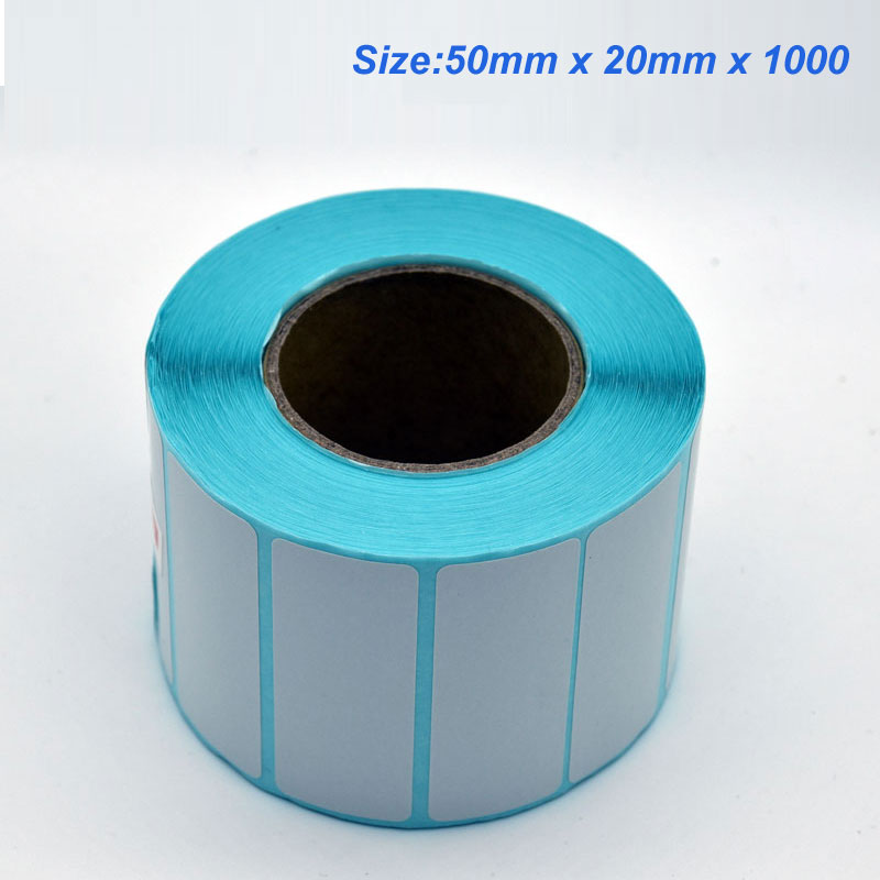 High Quality 50mm X 20mm X 1000 Thermal Barcode Paper Thermal Label Paper For Thermal Printer