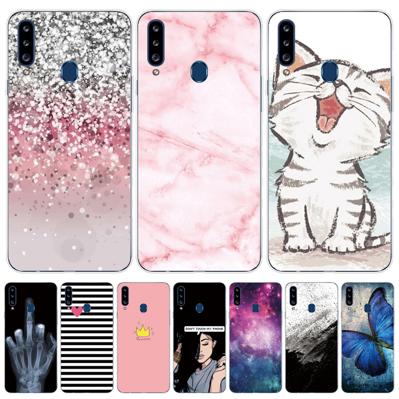 Case For Samsung Galaxy A20s Case Galaxy A20s Case Silicone Bumper For Samsung A20s A 20S A207 SM-A207f Cover Soft Fundas Cat