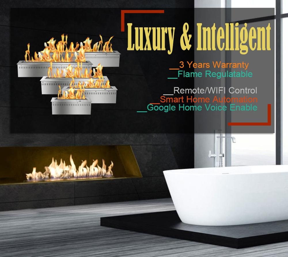 Inno Living 30 Inch Luxury Indoor Use Ethanol Fireplace Remote