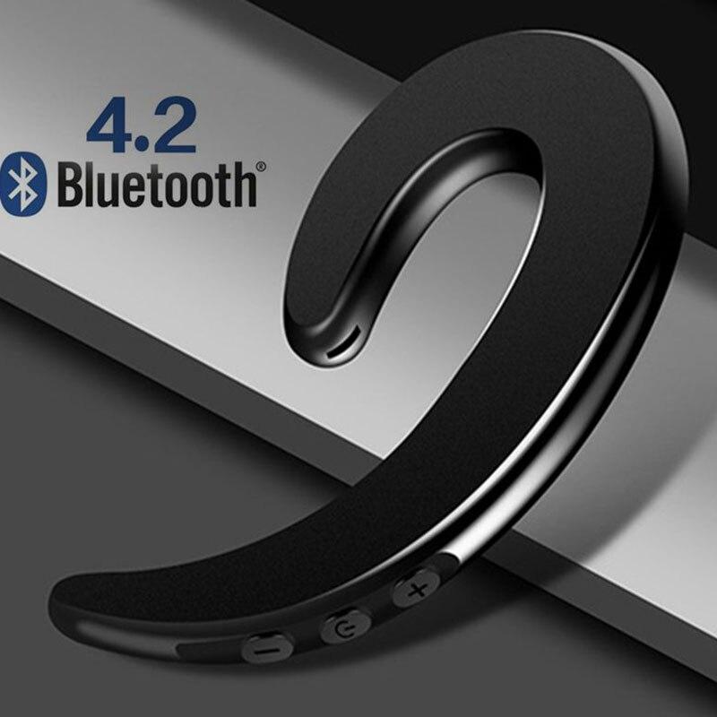Bone Conduction Single Ear-Hook Bluetooth Headphone Bone Conduction Wireless Earphone Business Earphone