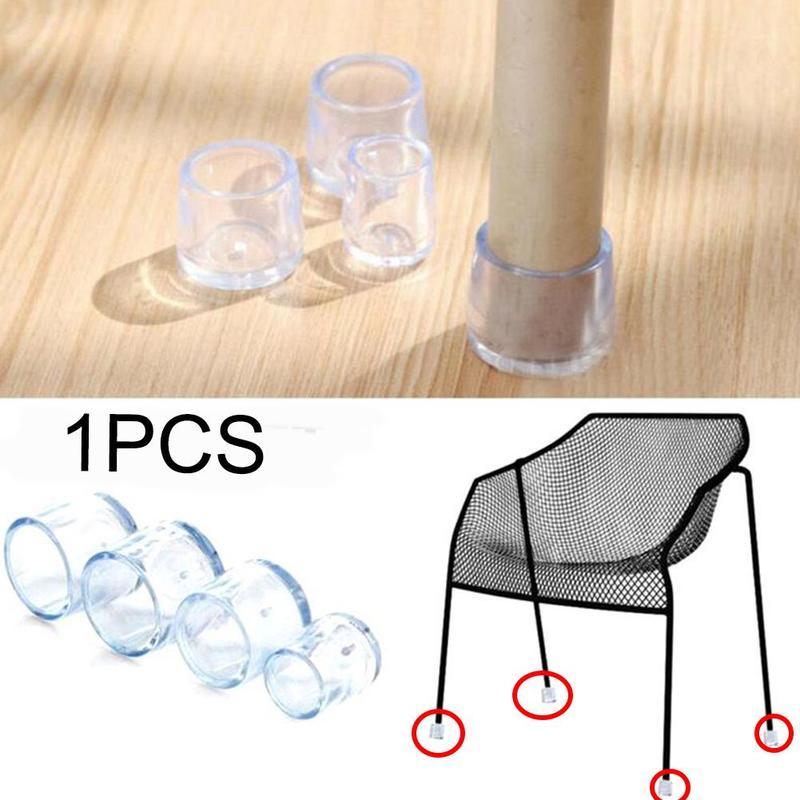 8pcs 25/30mm Thickwear Wear-resistant, Non-slip Silicone Chair Leg Caps Socks Table Chair Leg Floor Feet Cap Cover Protector