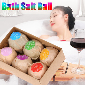 6pcs Organic Bath Salt Body Essential Oil Bath Ball Natural Bubble Bath Bombs Ball Skin Whiten Relax Stress Relief Shower Bombs