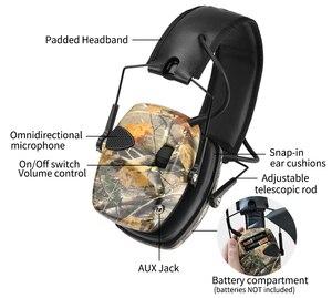 Image 2 - ZOHAN 전자 귀마개 NRR 22DB 전술 사냥 귀 플러그 전자 보호 슈팅 귀 Muffs 전술 귀마개 촬영