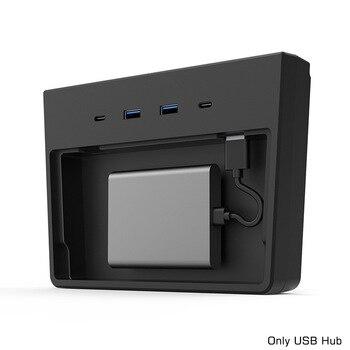 Stacja dokująca do ładowania 5 w 1 z zabezpieczeniem przeciw kradzieży transmisja danych Splitter konsola środkowa USB Hub dla modelu Tesla 3 Y po maju 2020 r