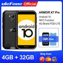 Ulefone – Téléphone portable Armor X7 Pro Android 10 avec 4 Go de RAM, smartphone robuste, étanche IP68, 4G LTE, technologie NFC, 2,4 GHz/5 GHz WLAN