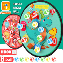 Sticky Ball Target Throw Sports Games Dartboard Shooting Creative Outdoor Dinosaur Cloth Sucker Toys for Children Gifts Sandbag