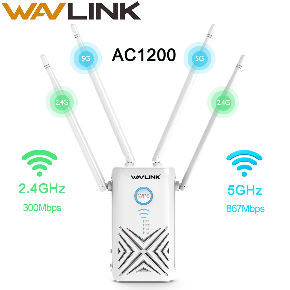 Wavlink Wireless High Power 2.4 5Ghz 1200Mbps Wi-fi Router/Repeater/Access Point WiFi Range Extender Wifi Booster Repetidor Wifi