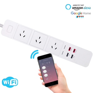 Image 2 - WiFi Smart Power Strip Presa di Estensione con USB Tipo c di Protezione Contro Le Sovratensioni Spina Intelligente A Distanza per Alexa Google casa
