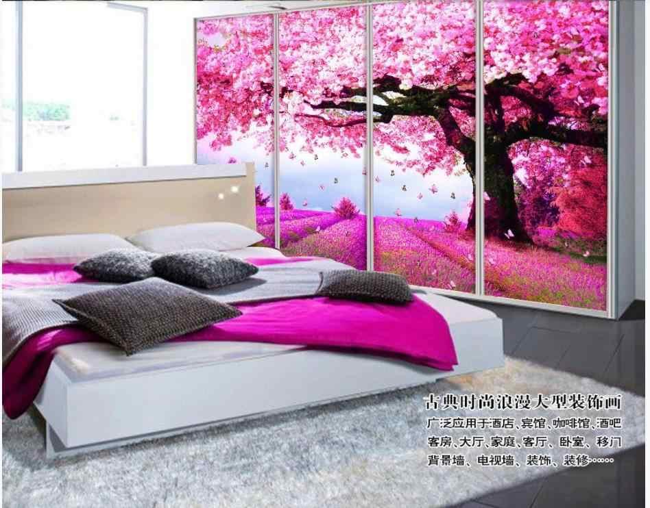 Niestandardowe fototapety 3d fototapety tapety na ścianę stylowe romantyczne idylliczne krajobrazy kwiatowe dekoracje na choinkę tło typu mural
