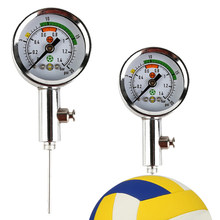 Medidor de pressão de ar para bolas psi/barra com válvula de liberação embutida relógio de ar de futebol voleibol basketball barômetros