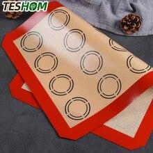 Tapete de cozimento de macaron de silicone-para panelas de cozimento-macaroon/pastelaria/confeitaria-antiaderente de grau profissional