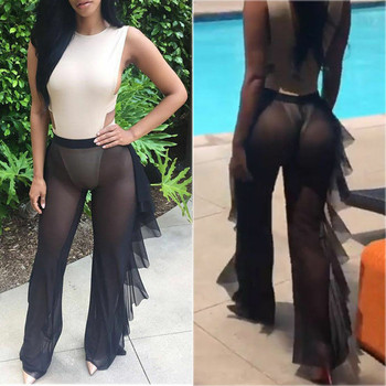 Сексуальный женский купальник-бикини с сеткой, прозрачный, плюс размер, купальный костюм, брюки, купальник, пляжная одежда, купальный костюм