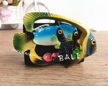 Indonesia Bali Souvenir Creative Gift Resin Fish Landscape Fridge Magnet(China)