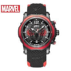 Disney Marvel Vigilanza degli uomini Spider-Man Orologio Al Quarzo Impermeabile casual Multifunzionale degli uomini di Uomini Della Vigilanza del Regalo 5Bar Sport