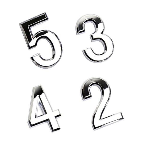 Argent numéro moderne Plaque numéro maison hôtel porte adresse étiquette chiffres autocollant Plaque signe 0-9