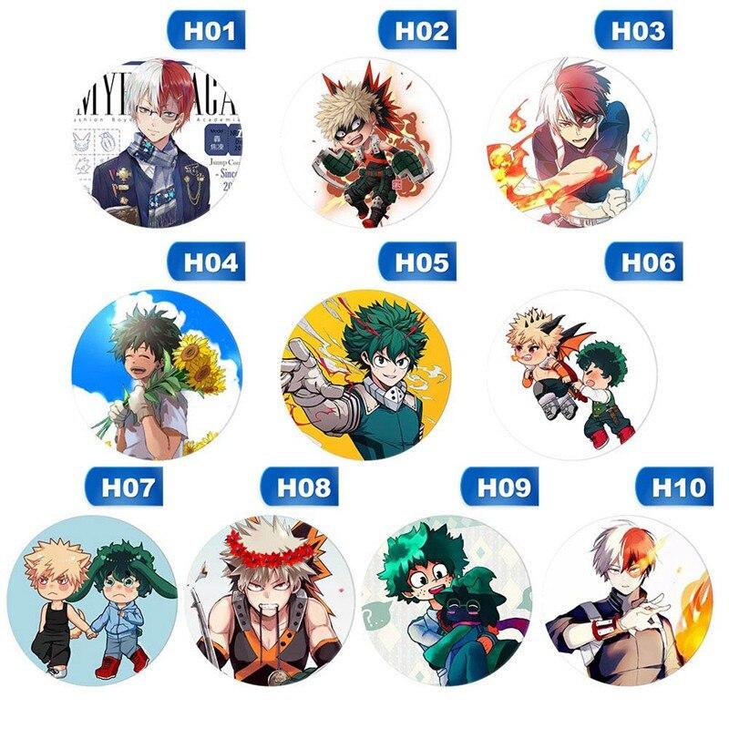 """Anime Boku no Hero Academia badges Pins Schoolbag 5.8CM 2.3/"""""""