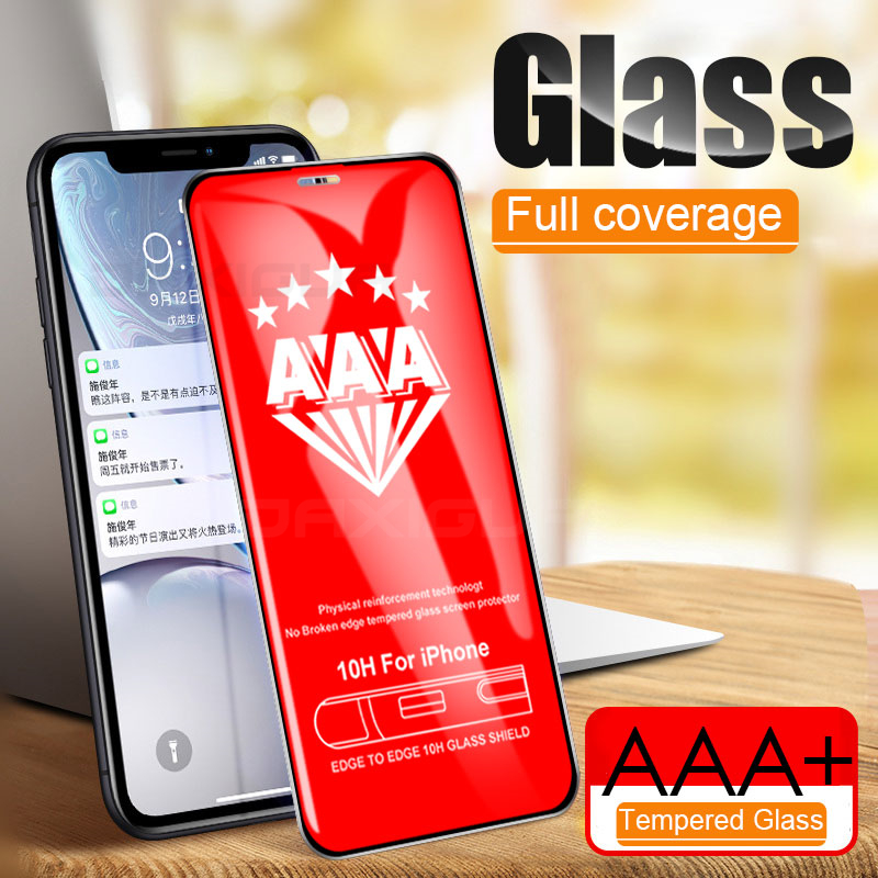 Curved Full Cover Protective Glass For IPhone 11 Pro X XS Max XR Tempered Screen Protector Glass On IPhone 6 6S 7 8 Plus X Film