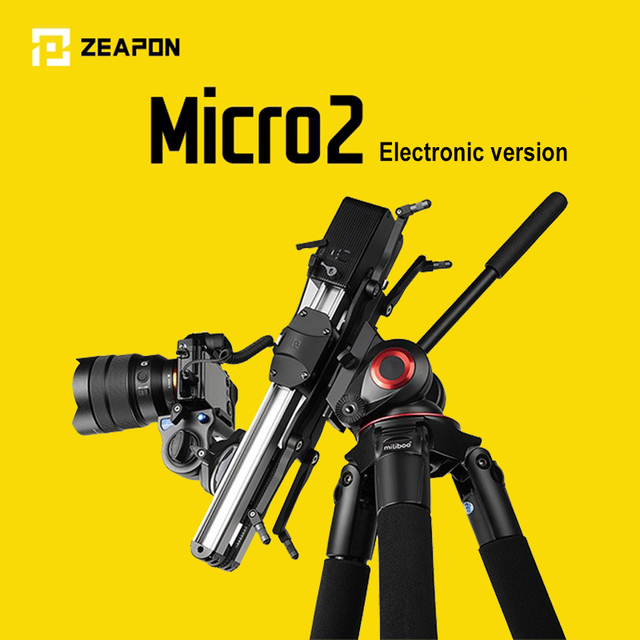 En stock pronto ZEAPON Micro 2 mini portátil ultra silencioso motor Cámara motorizada Video doble distancia paralelo deslizador Macro pista