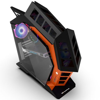 Darkflash K1 ATX desktop computer case DIY special-shaped personality style gaming glass gabinete pc case gamer large Chassis 2