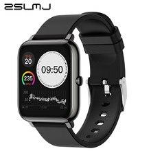 Relógio inteligente masculino p22 toque completo de fitness rastreador pressão arterial relógio inteligente feminino esporte smartwatch para apple android ios pk gts p8