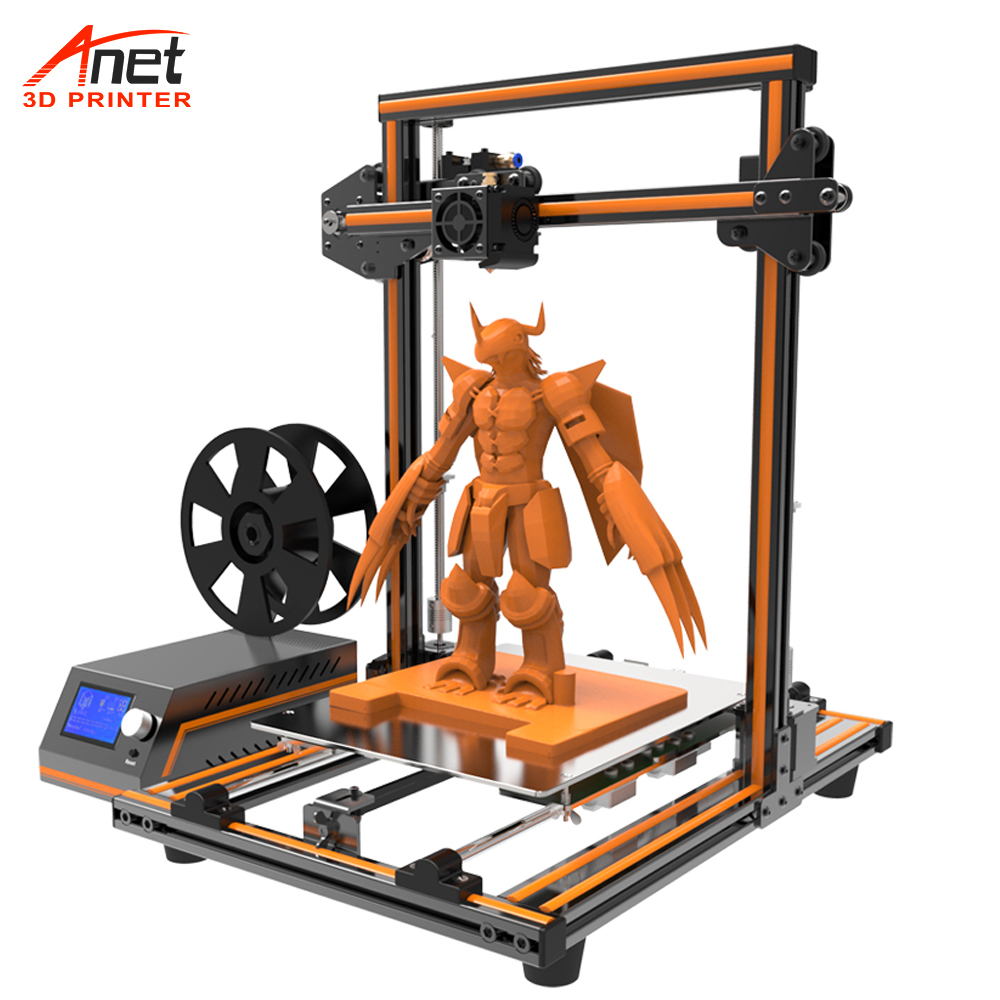 New Updated Anet E10 E12 E16 Desk 3D Printer With LCD 12864 Offline Printing Low Noise 3D DIY Kit Printer Large Print Size 3D Printers     - title=