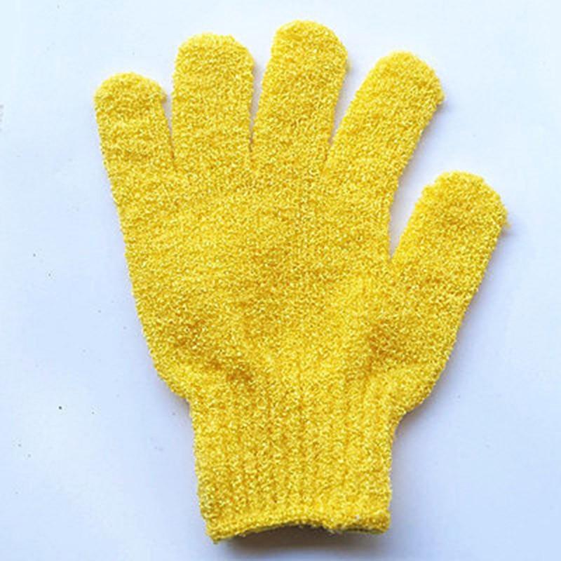 Exfoliating Bath Gloves Bathing Five-finger Gloves Children Bath Towel Colorful Soft Bubble Bath Towel Gloves 2 Pairs Pack OR88