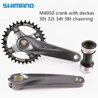 Shimano Alivio M4050 bike bicycle mtb crankset with Deckas 96BCD Narrow Wide chainring 32T 34T 36T 38T with BB52