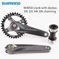 Shimano Alivio M4050 bike fahrrad mtb kurbel mit Deckas 96BCD Engen Breite kettenblatt 32T 34T 36T 38T mit BB52