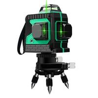Nível do laser 12 linhas 3d nível auto-nivelamento 360 horizontal vertical cruz super poderoso laser verde nível ferramentas de construção
