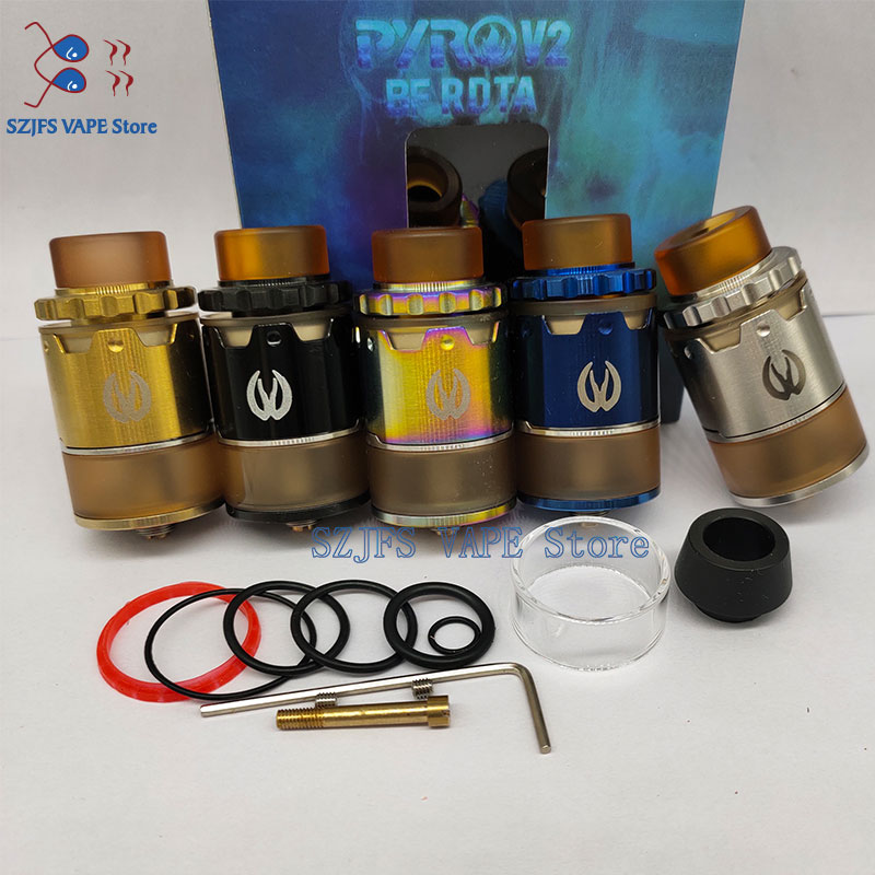 Sub Two Pyro V2 BF RDTA Tank 2ML/4ML Pyro VII For Electronic Cigarettes Box Mod Pulse BF 80w Mod Vape Vs FARIS 24MM Thc RDTA