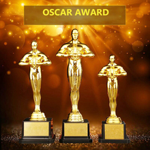 Customized Oscar Statuette Awards Replica Trophies PC Gold Plated Craft Souvenirs Oscar Trophy Award for Party Celebrations Gift tortuous star shaped metal trophy customized logo or words to crystal base video music awards grammy trophy for award ceremony