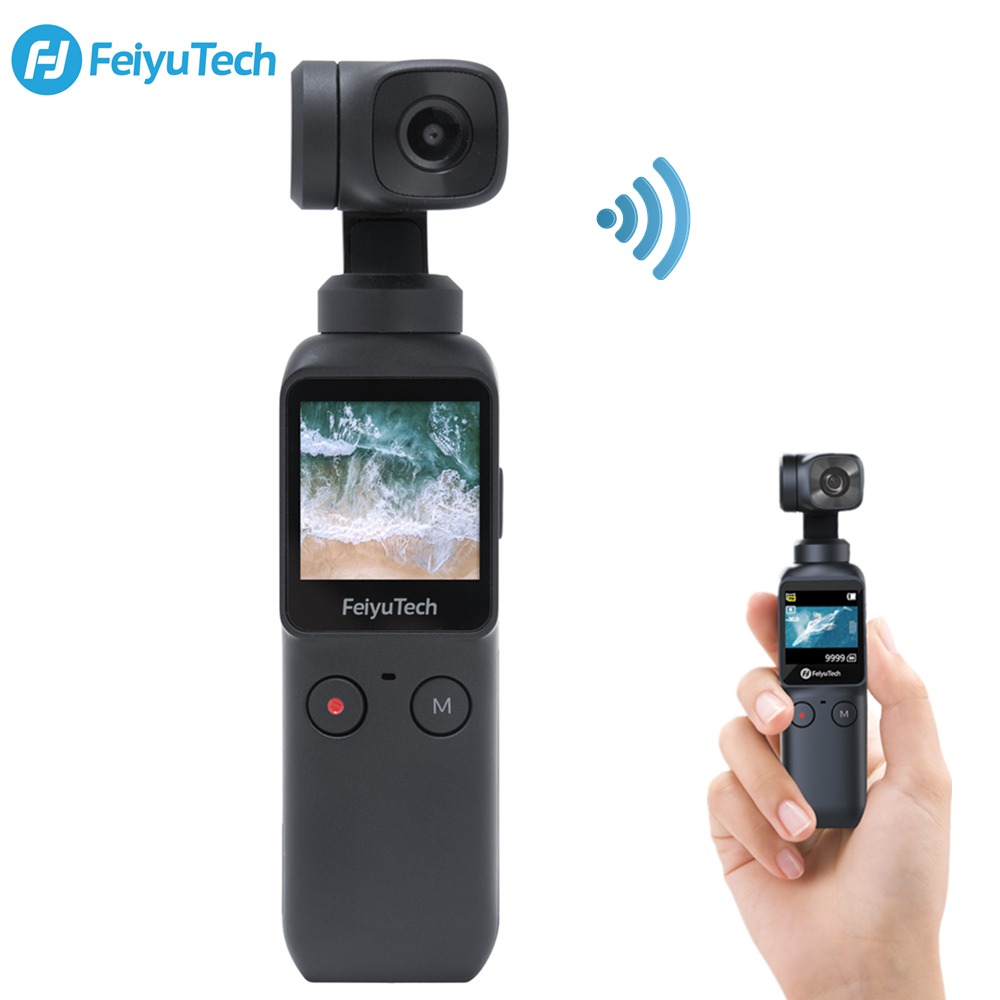 6-Axis Pocket Gimbal Camera Stabilizer Feiyu Pocket 4K HD 120° Wide Angle Smart Track Built-in Wi-Fi Control Smartphone Vlog