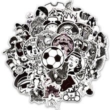 50 Pcs  Black and White Sticker Punk Graffiti Rock Funny Stickers for  Computer Guitar Helmet Laptop Suitcase Bike Decals