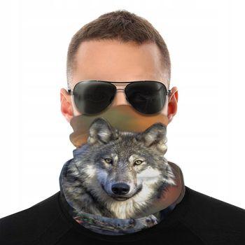 The Wolf Scarf Half Face Mask Men Women Halloween Neck Warmer Tubular Bandana Protective Headband Biking Hiking