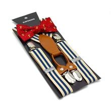 SHOWERSMILE Suspenders Kids Wedding Children Girls Baby Boys Suspenders Bow Tie Set Santa Christmas Green Braces for Trousers