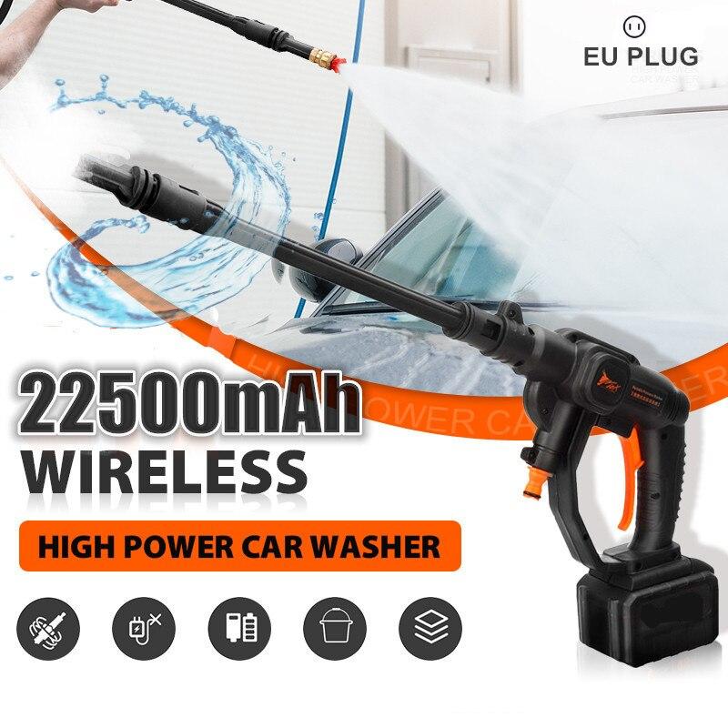 22500MAH 520W 32Bar Cordless High Pressure Car Washer 48VF Gun Washing Machine Handheld Portable Auto Spray Garden Water Jet EU