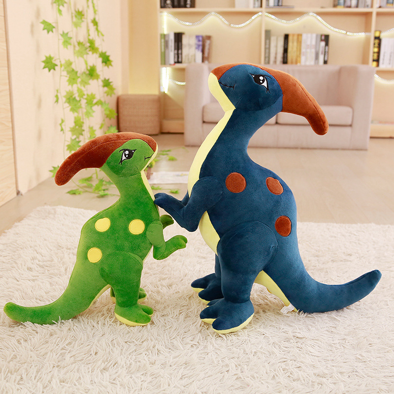 2021 New Hot Doll Parasaurolophus Dinosaur Plush Toys Stuffed Animal Dolls for Children Boys Dino Pillow Creative Birthday Gifts