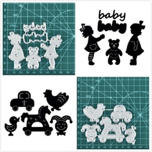 Baby Toys Metal Cutting Dies New Born Girl Boy for Craft Die Scrapbooking Embossing Stencil DIY Cut Card Decoration