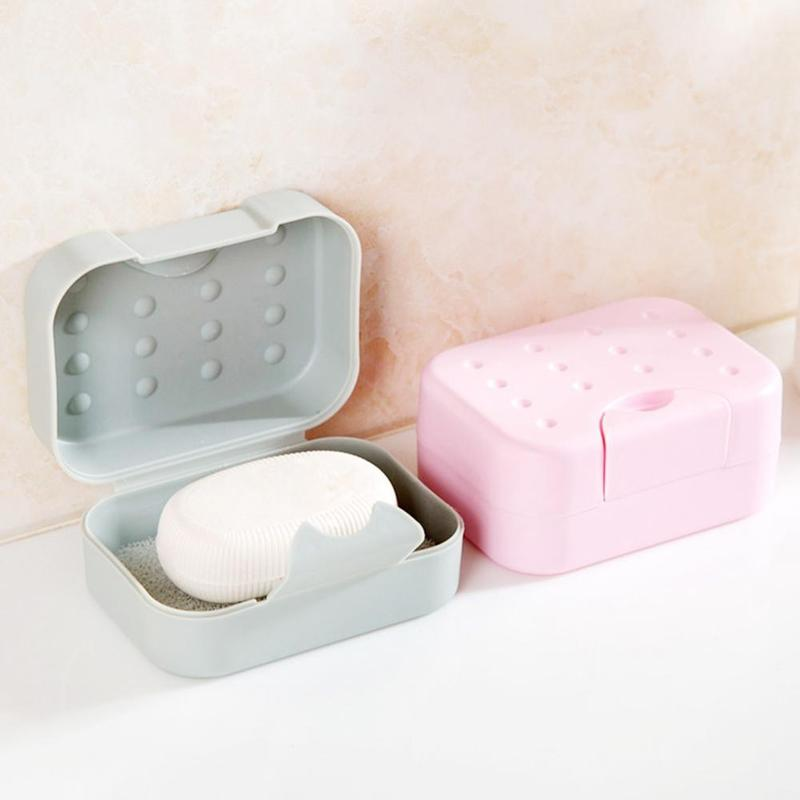 Tourist Soap Bottle Drying Facility Travel Soap Dish Box Case Holder Hygienic Easy To Carry Soap Box