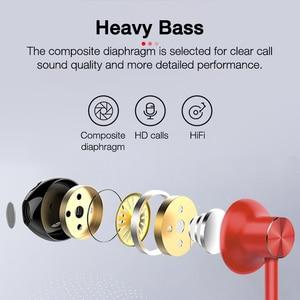 Image 3 - EARDECO skórzane słuchawki z pałąkiem na kark słuchawki Bluetooth słuchawki Stereo ciężki bas słuchawki bezprzewodowe Hifi wodoodporne słuchawki z Bluetooth