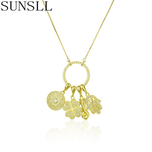 SUNSLL New Gold Copper Necklac