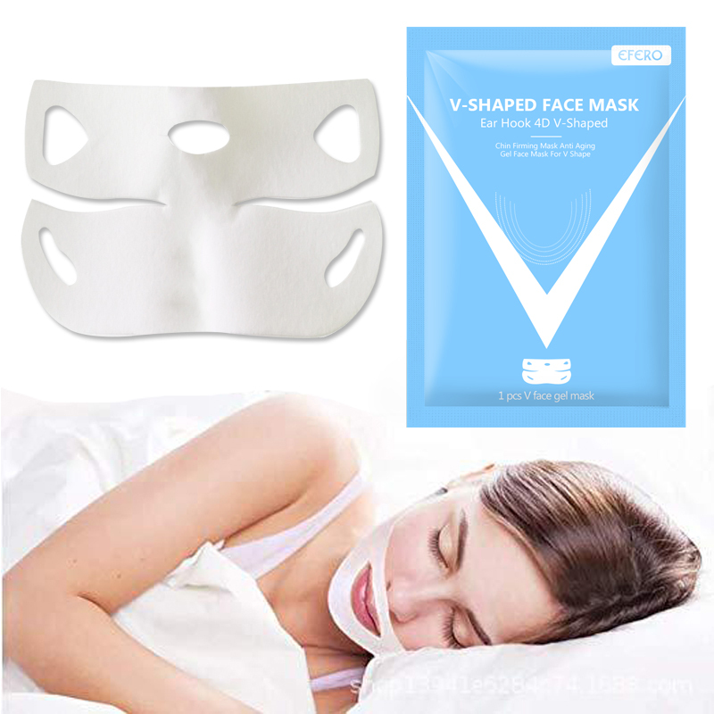 EFERO Lifting Face Masks V Shape Face Hydrating Sleeping Mask  Pores Facial Mask Whiten Mud Mask For Women Face Skin Care TSLM1